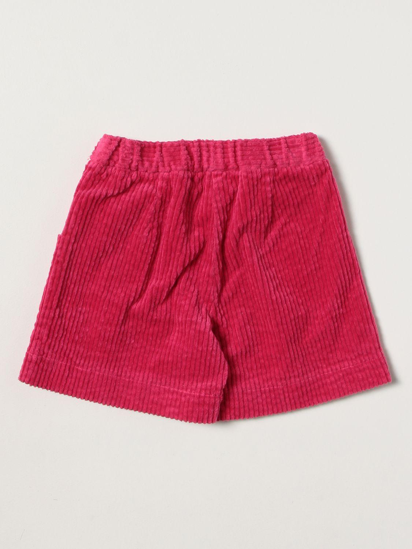 Pantaloncino Il Gufo: Pantaloncino Il Gufo in velluto a coste fuxia 2