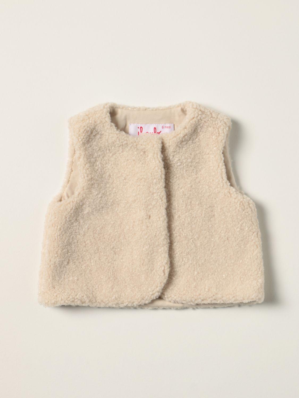 Vestcoat Il Gufo: Il Gufo vest in synthetic fur beige 1