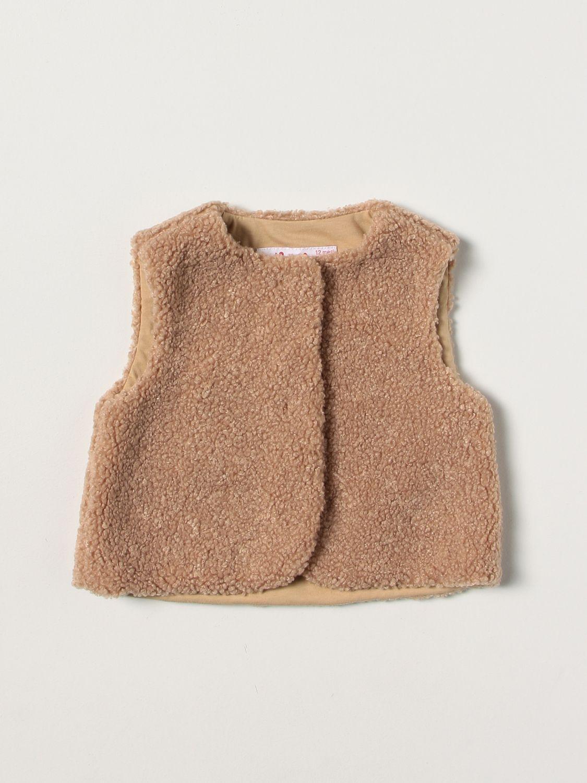 Vestcoat Il Gufo: Il Gufo vest in synthetic fur ecru 1