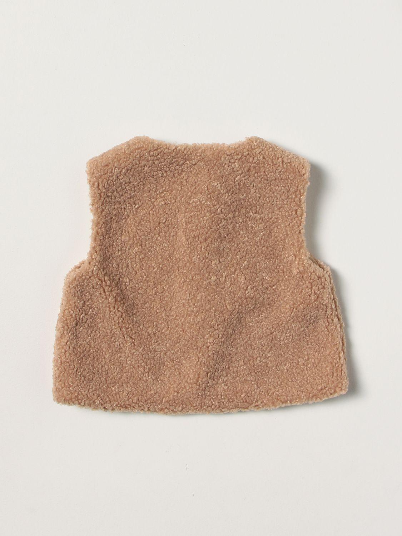 Vestcoat Il Gufo: Il Gufo vest in synthetic fur ecru 2