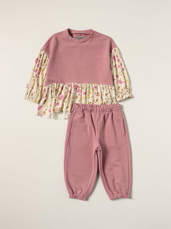 Completo Il Gufo: Completo maglia + pantalone Il Gufo in misto cotone rosa 1