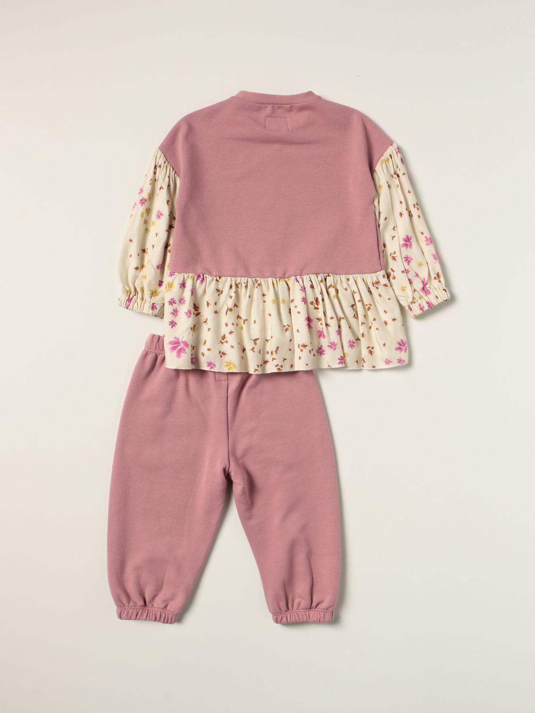 Completo Il Gufo: Completo maglia + pantalone Il Gufo in misto cotone rosa 2