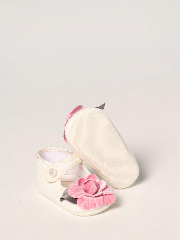 Scarpe Monnalisa: Scarpa da culla Monnalisa in jersey con rosa panna 2