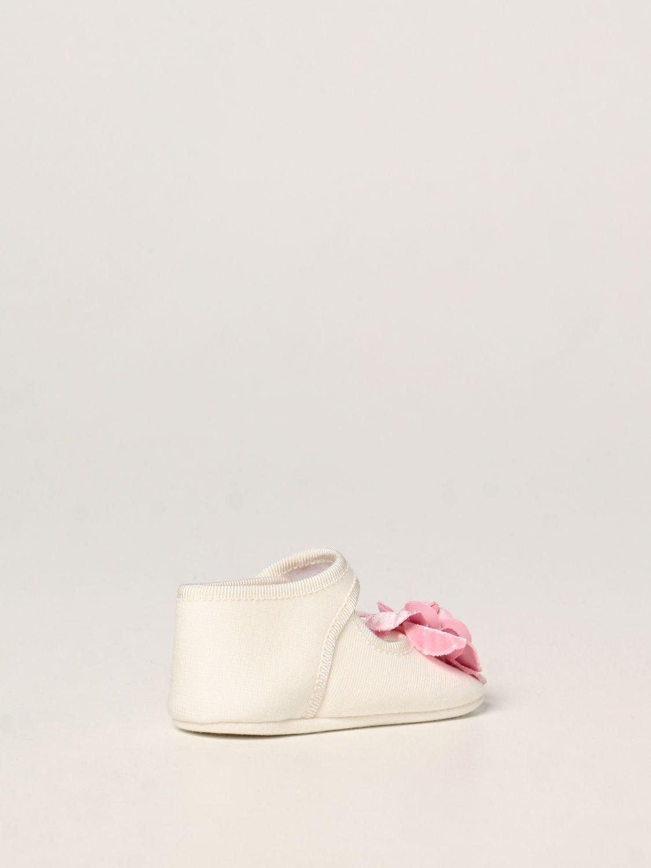 Scarpe Monnalisa: Scarpa da culla Monnalisa in jersey con rosa panna 3