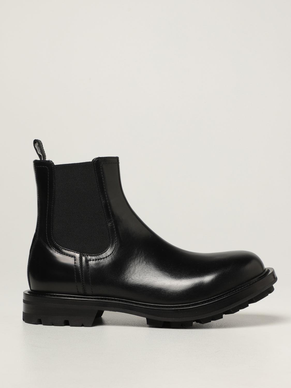 Boots Alexander Mcqueen: Alexander McQueen Chelsea boot in leather black 1