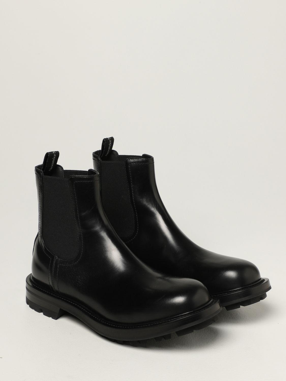 Boots Alexander Mcqueen: Alexander McQueen Chelsea boot in leather black 2