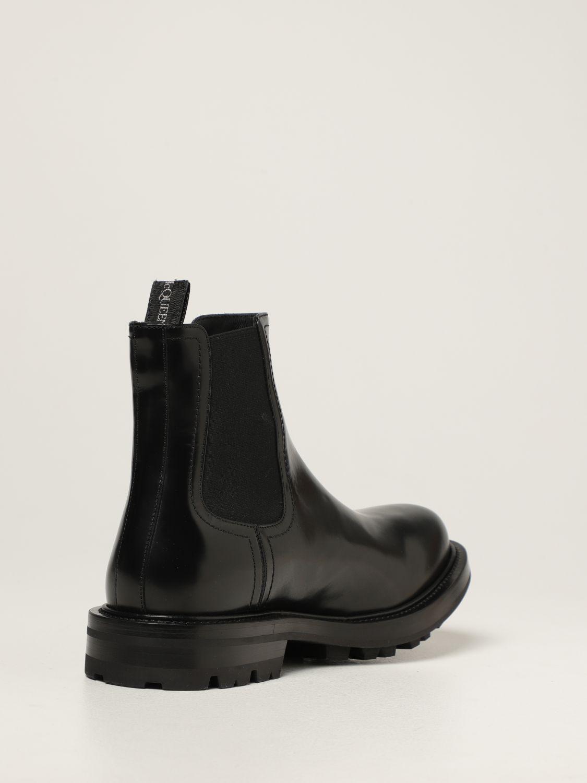Boots Alexander Mcqueen: Alexander McQueen Chelsea boot in leather black 3