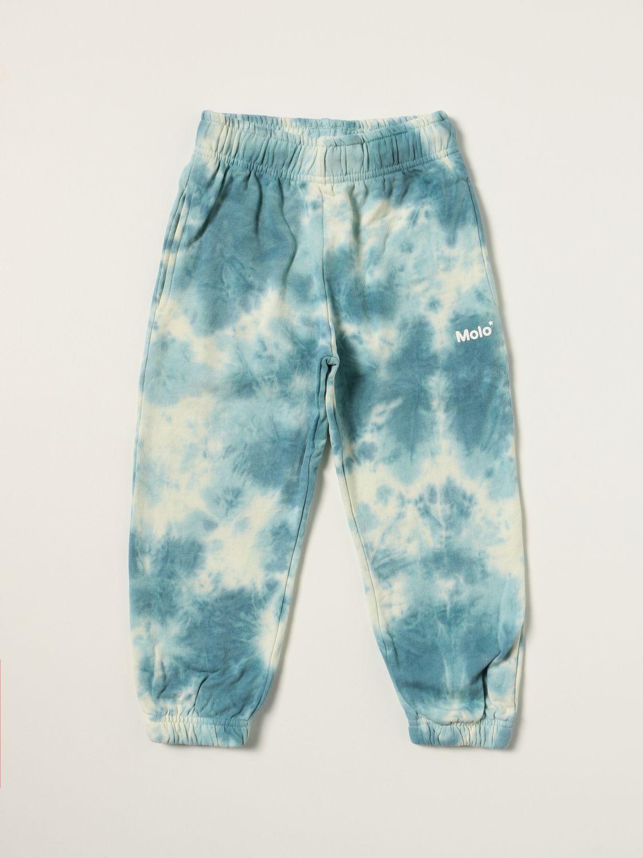 Pants Molo: Molo jogging pants with tie dye pattern white 1
