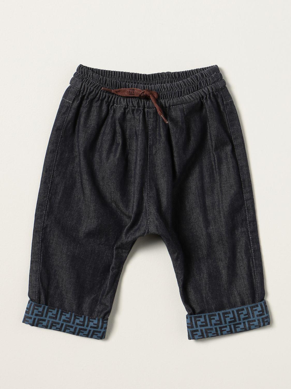 Jeans Fendi: Fendi jogging jeans in denim denim 1
