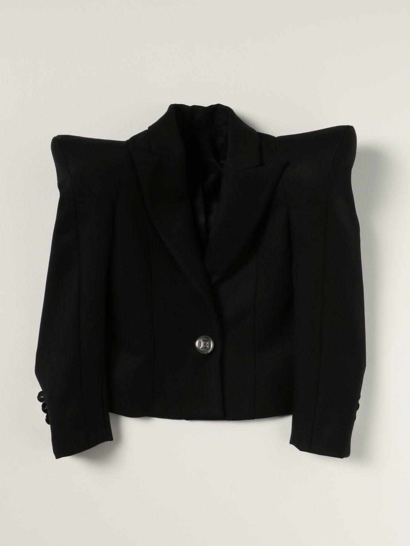 Blazer Balmain: Balmain jacket with pointed shoulders black 1