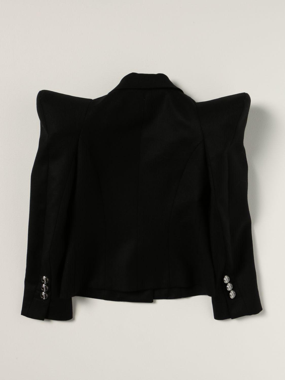 Blazer Balmain: Balmain jacket with pointed shoulders black 2