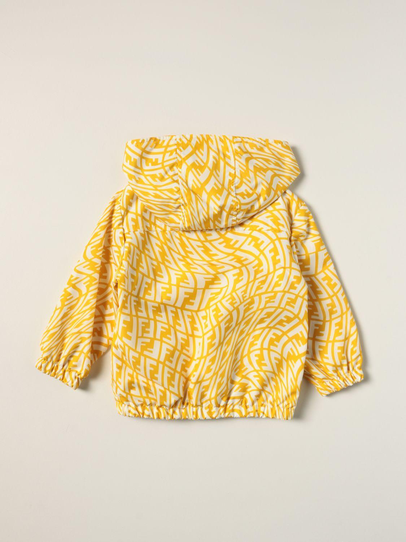 Jacket Fendi: Fendi nylon cotton blend jacket with FF Vertigo logo yellow 2