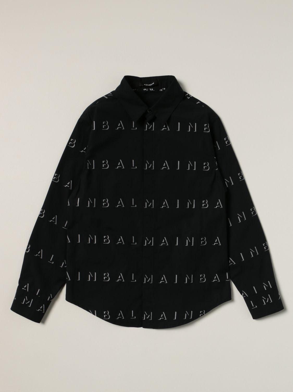 Рубашка Balmain: Рубашка Детское Balmain черный 1