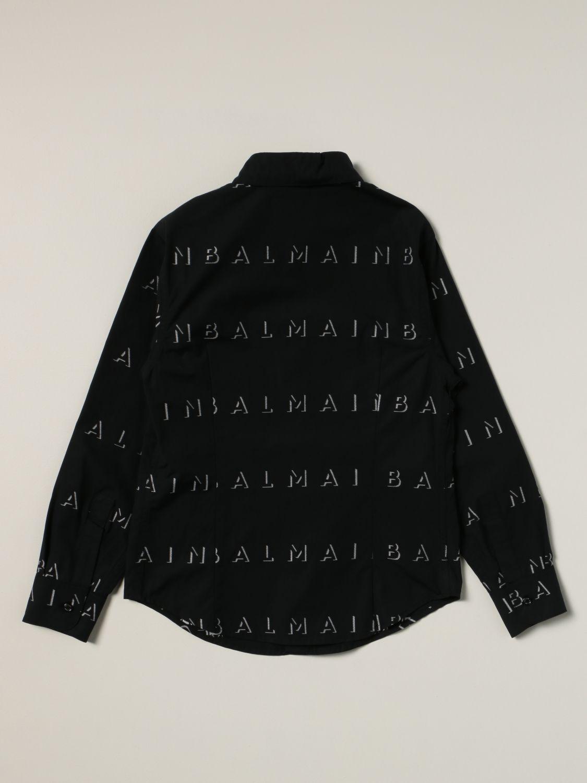Рубашка Balmain: Рубашка Детское Balmain черный 2