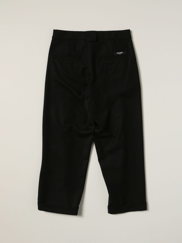 Pants Balmain: Balmain pants in virgin wool blend black 2