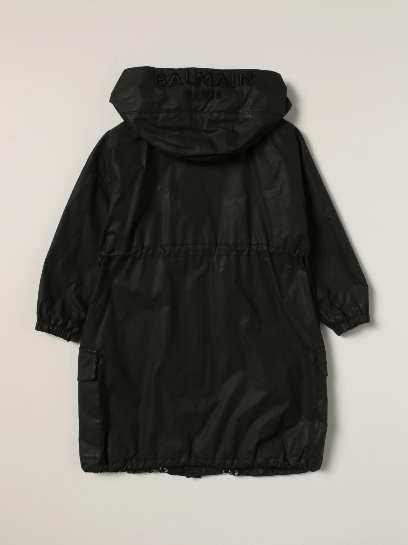 Куртка Balmain: Куртка Детское Balmain черный 2
