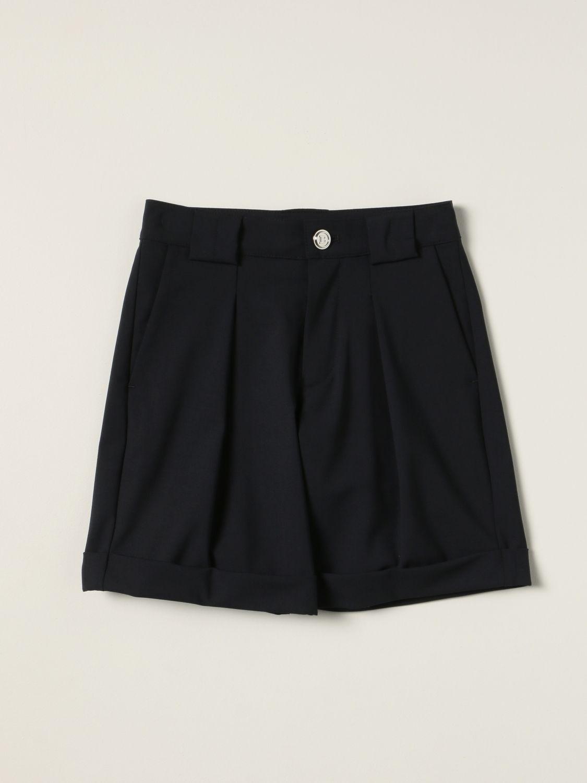 Shorts Balmain: Balmain Bermuda shorts in virgin wool blend blue 1