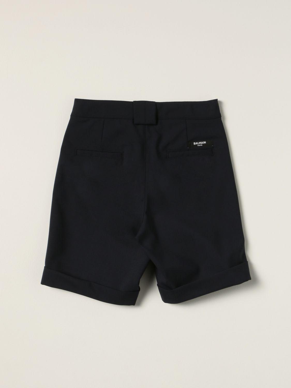 Shorts Balmain: Balmain Bermuda shorts in virgin wool blend blue 2