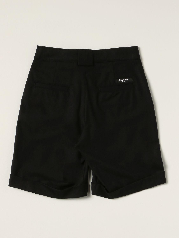 Pantaloncino Balmain: Bermuda Balmain in lana vergine nero 2