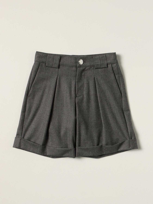 Shorts Balmain: Balmain Bermuda shorts in virgin wool grey 1