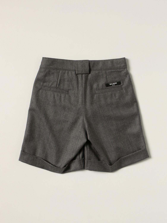 Shorts Balmain: Balmain Bermuda shorts in virgin wool grey 2