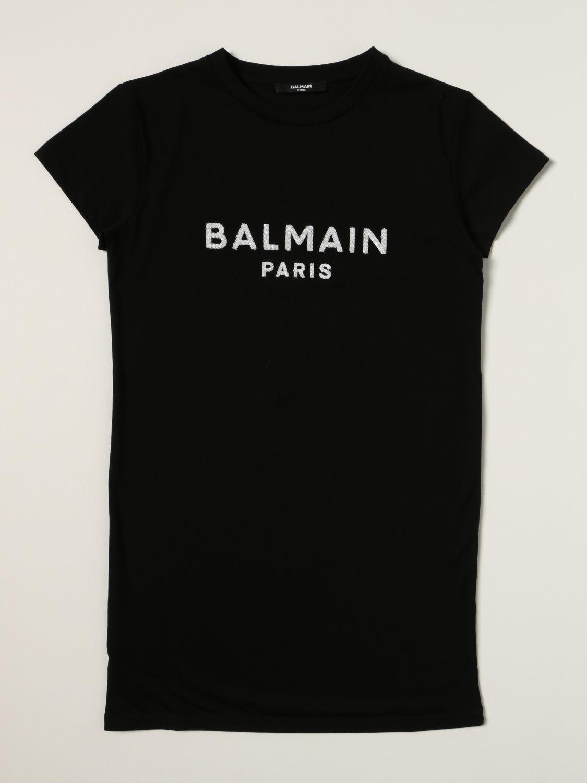 Vestido Balmain: Vestido niños Balmain negro 1