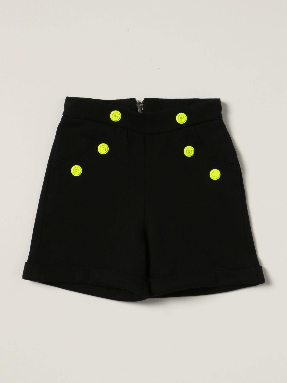 Short Balmain: Balmain cotton shorts with buttons black 1 1