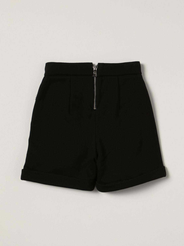 Short Balmain: Balmain cotton shorts with buttons black 1 2