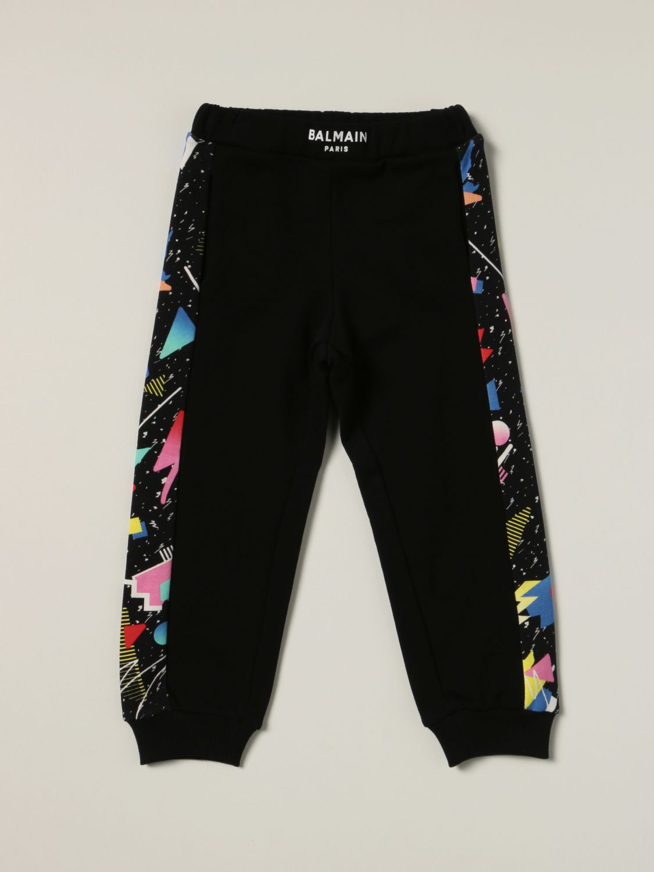 Pants Balmain: Balmain jogging pants with printed bands black 1