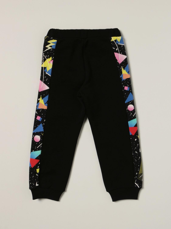 Pants Balmain: Balmain jogging pants with printed bands black 2