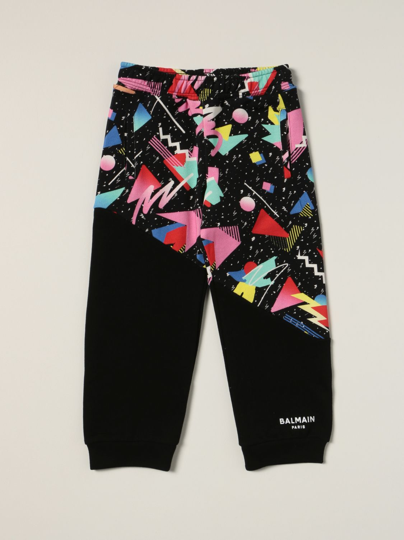 Pants Balmain: Balmain jogging pants with abstract print black 1