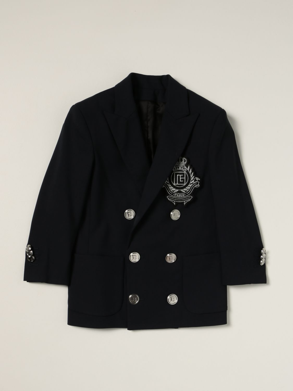 Блейзер Balmain: Куртка Детское Balmain синий 1
