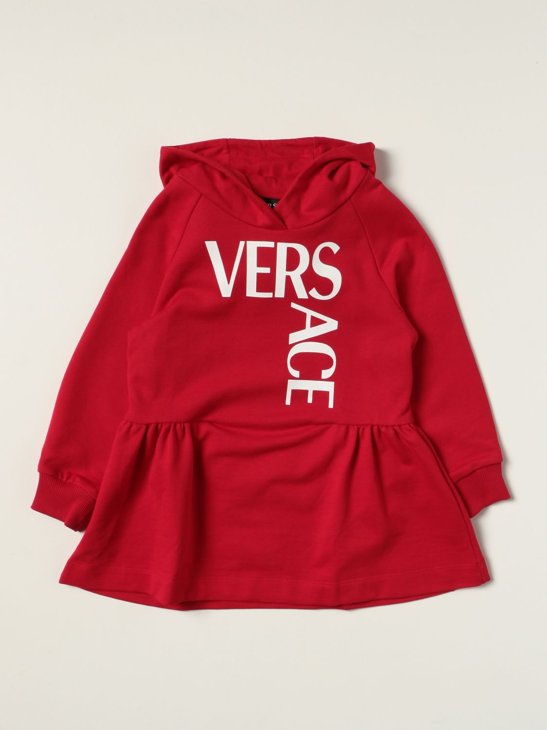 Dress Young Versace: Versace Young hooded dress red 1
