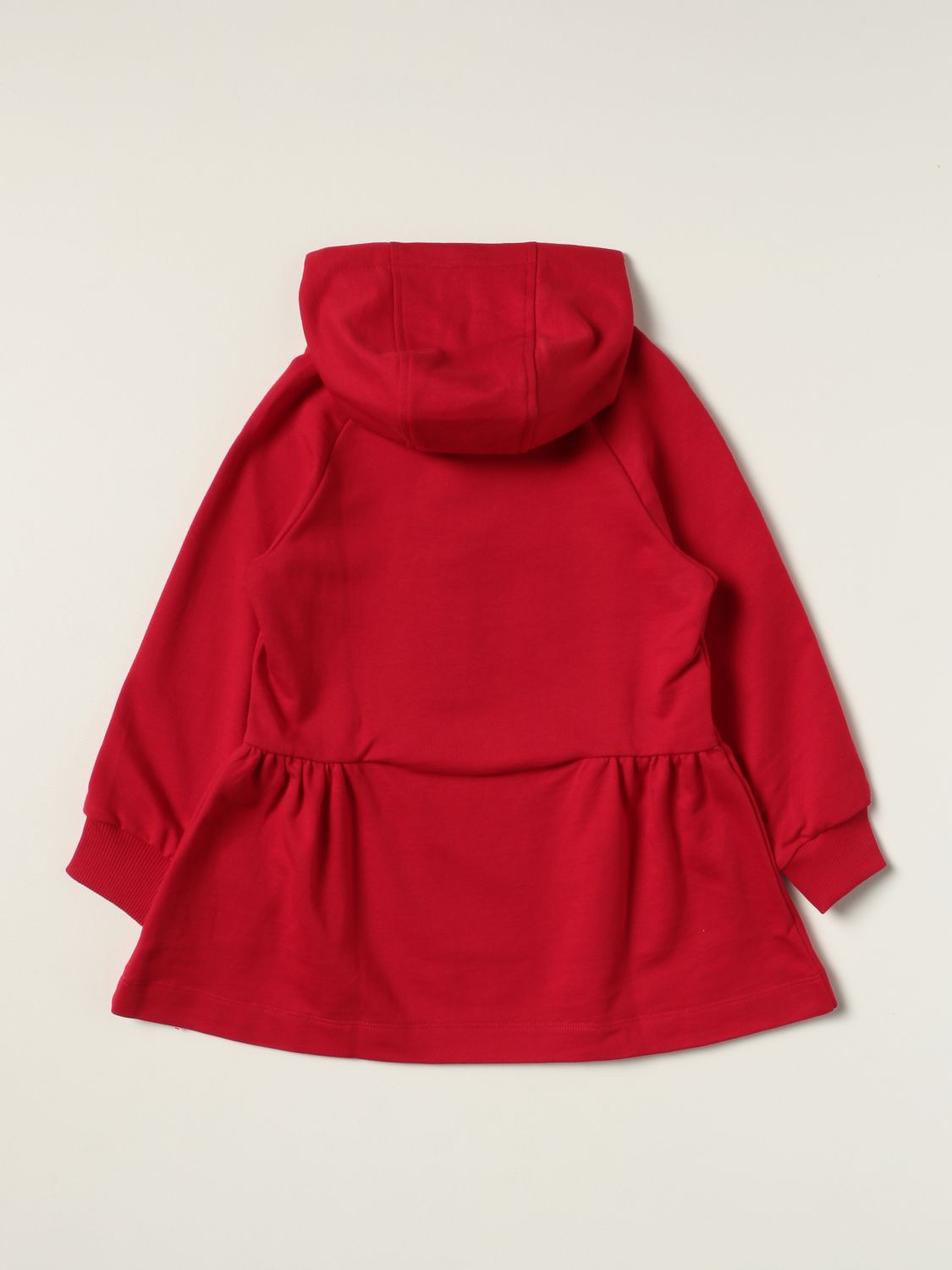 Dress Young Versace: Versace Young hooded dress red 2