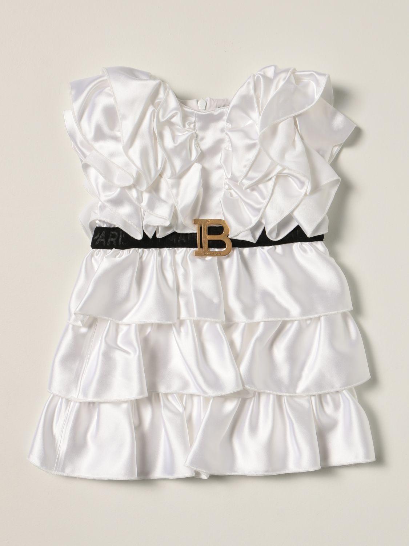 Romper Balmain: Balmain baby dress white 1