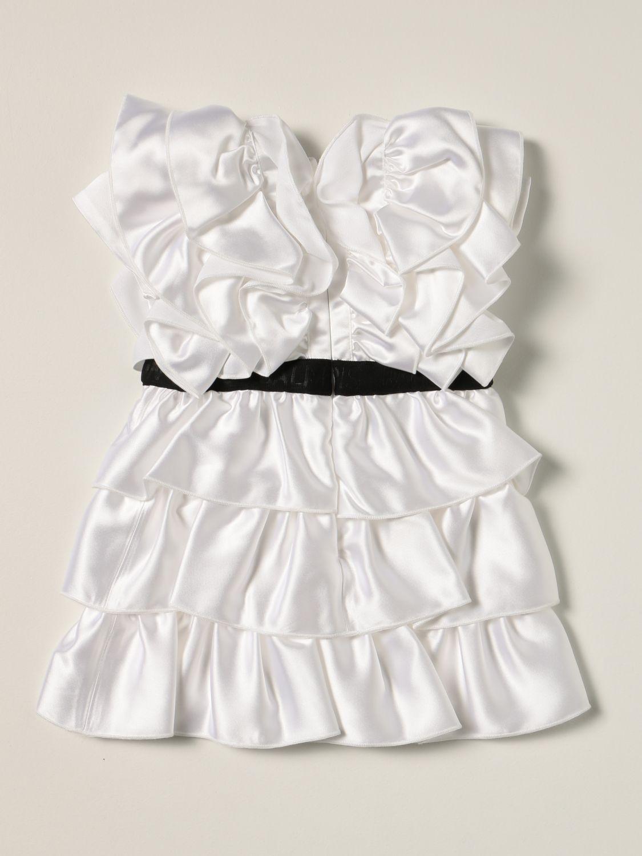 Romper Balmain: Balmain baby dress white 2