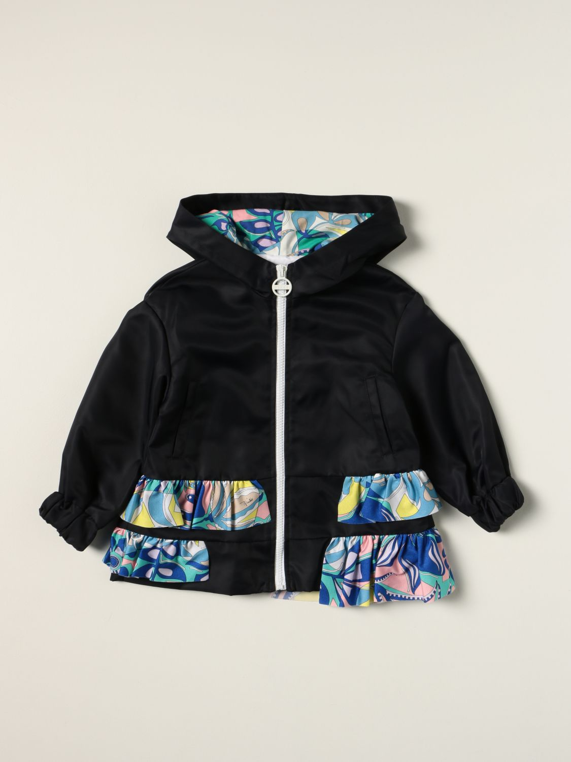 Jacket Emilio Pucci: Emilio Pucci jacket with patterned ruches blue 1