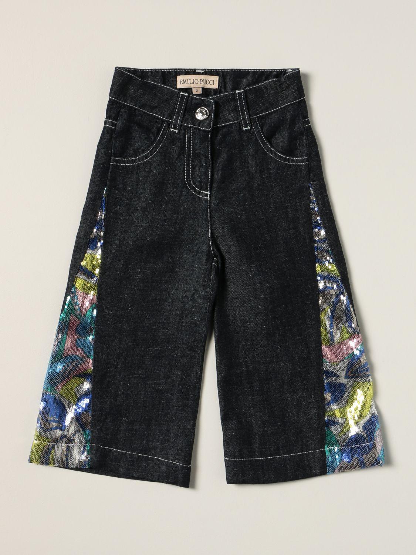 Jeans Emilio Pucci: Wide Emilio Pucci jeans with sequin details blue 1