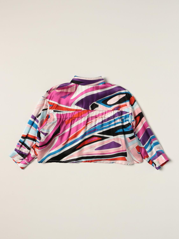 Рубашка Emilio Pucci: Рубашка Детское Emilio Pucci фуксия 2