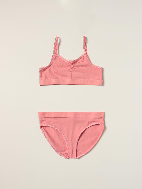 Intimo Molo: Set top e slip Jinny Molo in cotone stretch rosa 1