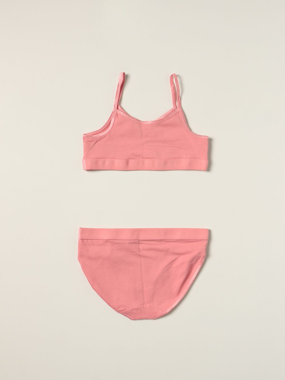 Intimo Molo: Set top e slip Jinny Molo in cotone stretch rosa 2
