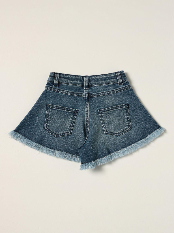 Short Emilio Pucci: Emilio Pucci jeans shorts with logo blue 2