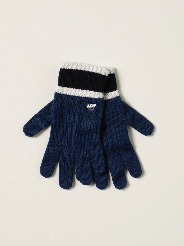 Gloves Emporio Armani: Emporio Armani gloves with logo blue 1