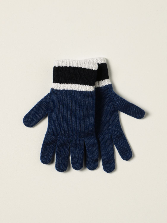 Gloves Emporio Armani: Emporio Armani gloves with logo blue 2