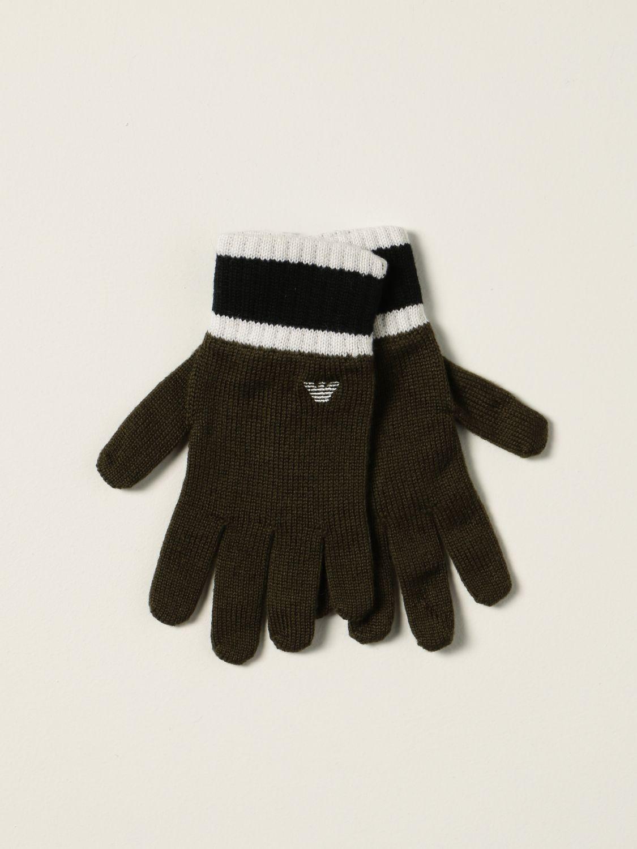 Gloves Emporio Armani: Emporio Armani gloves with logo green 1