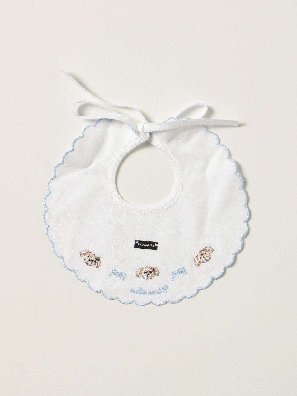 Bib Monnalisa: Monnalisa bib with embroidery yellow cream 2