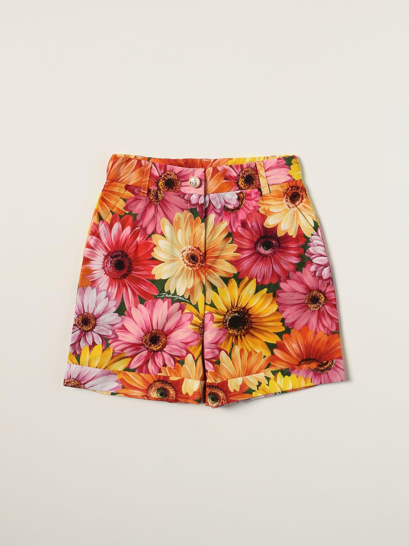 Short Dolce & Gabbana: Dolce & Gabbana cotton shorts with floral print green 1