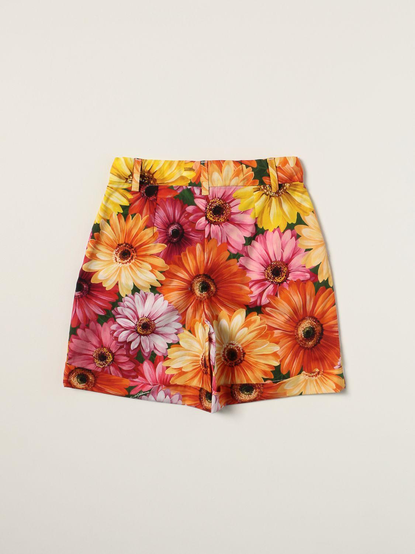 Short Dolce & Gabbana: Dolce & Gabbana cotton shorts with floral print green 2
