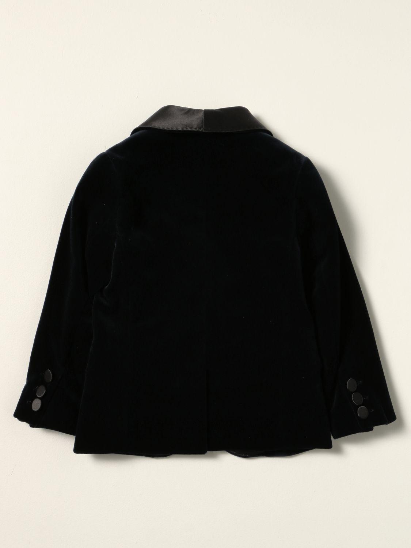 Blazer Monnalisa: Monnalisa single-breasted jacket in velvet blue 2