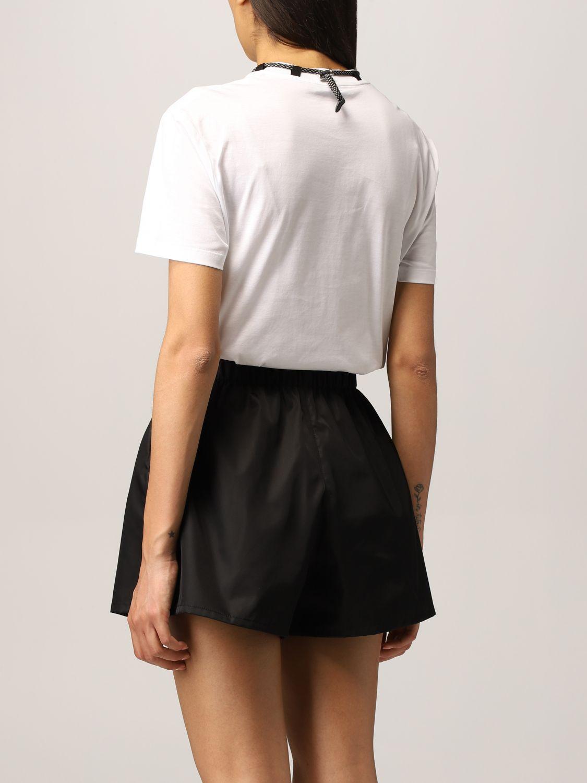 T-shirt Prada: T-shirt Prada con pochette da collo bianco 3
